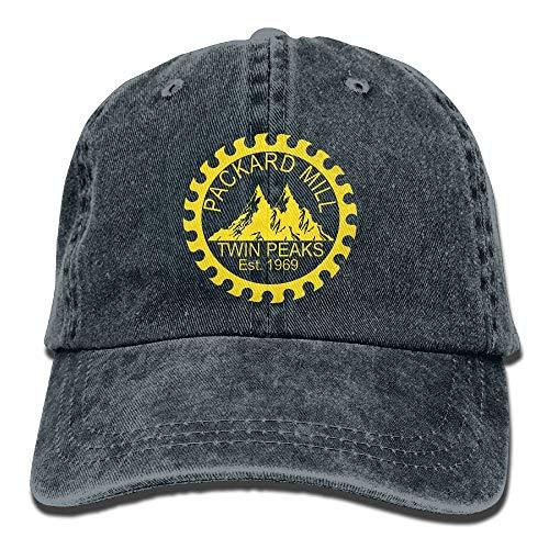 Twin Kostüm Peaks - Zcfhike Männer & Frauen gewaschen Retro verstellbare Jeans Caps Baseballmütze - Twin Peaks Packard Mill Design14