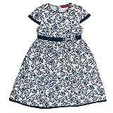SALT AND PEPPER Mädchen Kleid Dress weiß mit Blauen Blumen, Mehrfarbig (Original 099), 92 (Herstellergröße: 92/98)