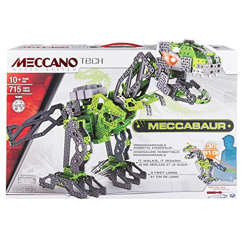 Meccano-Tech-T-Rex-juegos-de-construccin-Robot-IR-remote-Verde-Gris-Caja