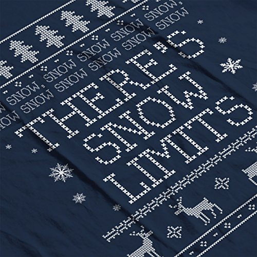 Snow Snow Theres Snow Limits Christmas Knit Women's Hooded Sweatshirt Navy blue