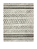 NAZAR 83561 Marroko 835 Tapis scandinave à motif Matériel Synthétique Crème 150 x 80 cm