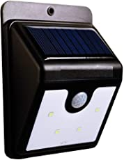 FreshDcart Solar Wireless Security Motion Sensor Night Led Light Alarm with Wall Mount - 20 LEDs Bright and Waterproof for Indoor/Outdoor/Garden/Terrace and Staircase (20 LED)