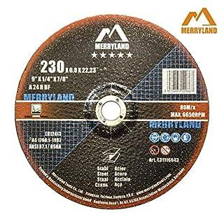 Merryland 230 X 6,0 Experten-line Schruppscheibe für Stahl Metall 10 Stück
