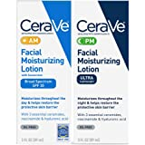 CeraVe Facial Moisturizing Lotion 3oz. AM/PM Bundle (Packaging may vary)