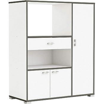 habeig moderner Küchenschrank #8540 weiß grau Miniküche