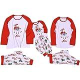 Famiglia Pigiami Natale Indumenti da Notte per Uomo Donne Neonato Bambino,2PC Cotone Camicie Manica Lunga + Pantaloni Set Cos