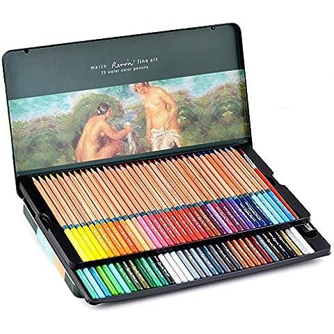 newdoer marco Renoir 72juego de lápices de acuarela con lápiz lata caja lápices Set