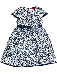 Salt & Pepper Dress Weiß Mit Blauen Blumen, Robe Fille