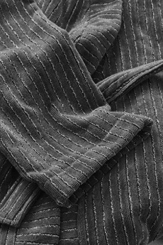 Marc O`Polo Bademantel Velour stripe Anthracite
