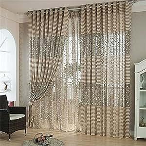 kolylong rideaux fen tre salon design moderne arbre. Black Bedroom Furniture Sets. Home Design Ideas