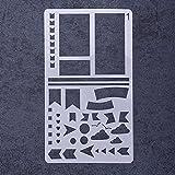 Rungao diverse Airbrush-Schablonen, wiederverwendbar, Vorlage, DIY, Dekoration 01