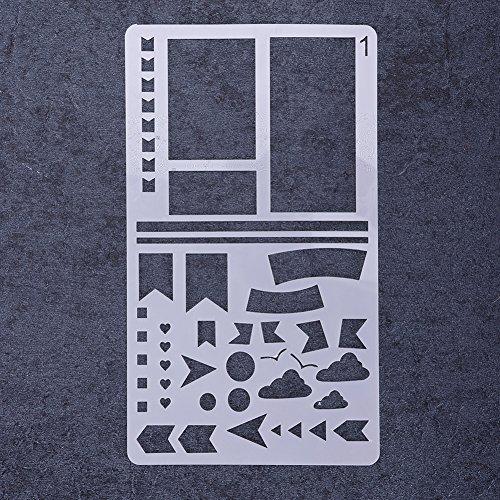 rungao verschiedenen Muster Airbrush Malen Schablone wiederverwendbar Vorlage DIY Decor 01