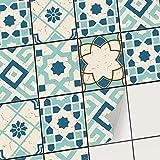 creatisto Adhésif Autocollant - Sticker Carrelage I Recouvrir Carreaux de Ciment - Embellir dosseret Cuisine et Faience Salle de Bain (20x25 cm I 6 - Pièces)
