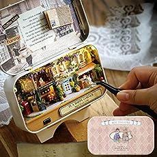 Hongfei 3D DIY Dollhouse Kit Miniatur Märchen Tin Box Theater Spielzeug Geschenk für Geburtstag/Kinder / Mädchen/Teens / Frauen/Erwachsene mit Werkzeugen - Fortunate Straßenecke