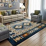 YZGH Semplice moderno blu soggiorno tappeto scamosciato Tavolo da tè Tappeto Tappeto camera da letto , blue , 130*190cm