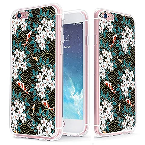 iPhone 6s Case - True Color Clear-Shield Showa Koi [Japanese Collection] Printed on Clear Back - Perfect Soft and Hard Thin Shock Absorbing Dustproof Full Protection Bumper Cover
