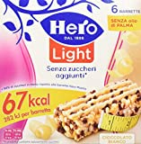 Hero Light Barrette ai Cereali Cioccolato Bianco senza Zuccheri Aggiunti - 120 gr