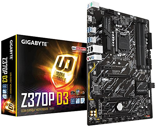 Gigabyte Z370P D3 - Placa base (DDR4-SDRAM, Express LGA 1151, Socket H4, DIMM, 2133,2400,2666 MHz, Dual, 64 GB, Intel)