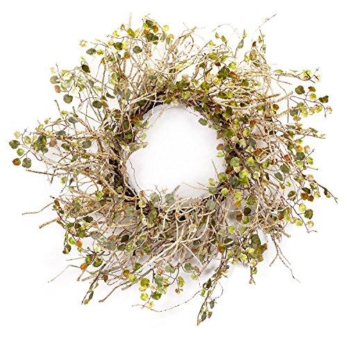 Melrose International Birke Ast Kranz mit Mini Blätter, 66cm