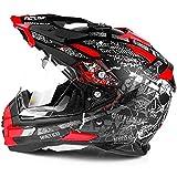 Broken Head Road Pirate Enduro Helm rot - MX Motorradhelm mit Sonnenblende