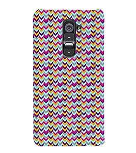 PrintVisa Corporate Print & Pattern Chevron 3D Hard Polycarbonate Designer Back Case Cover for LG G2