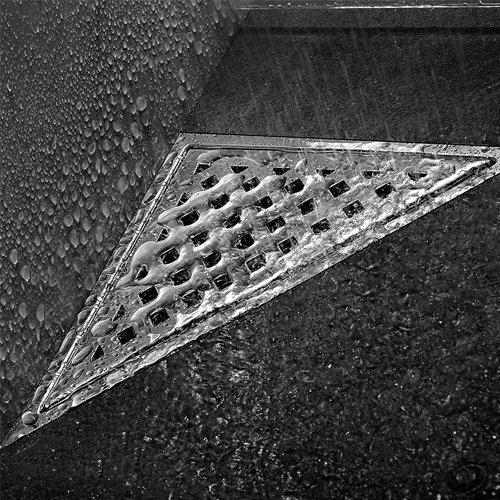 uling D008abnehmbarer Net Cover Triangle Bodenablauf