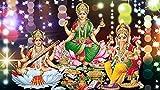 Love st. - Happy Diwali - Goddess Lakshmi Maa - Laxmi Ganesh Saraswati Pooja Posters | Puja Poster | Diwali Poster | Diwali Puja Samagri | Posters for Home & Office 12x18