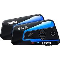 LEXIN 2pcs Interfono Moto Con Radio FM, Comunicazione Di Auricolare Bluetooth Per Casco Con Cancellazione Del Rumore…