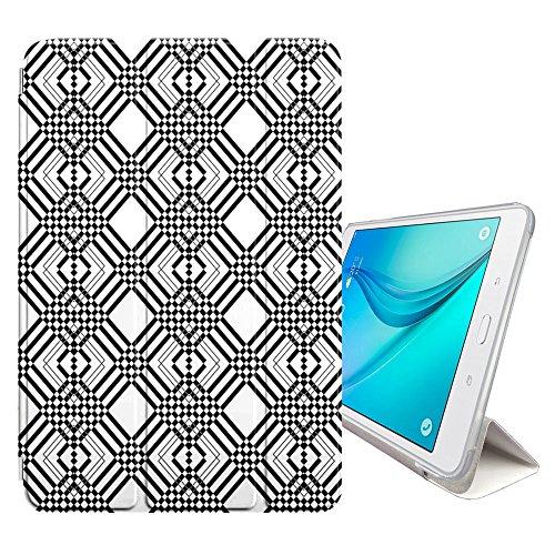 PIXELS Muster Smart cover Hülle Dünn Tri-Fold Schlank Superleicht Ständer Cover Schutzhülle Tasche für Samsung Galaxy Tab E - 9.6