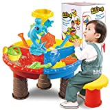 #8: Leoie 1 Set Children Beach Table Sand Play Toys Set Baby Water Sand Dredging Tools Color Random