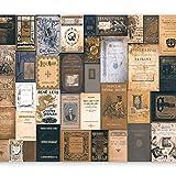 murando - Fotomurali - 400x280 cm - Carta da parati sulla fliselina - Carta da parati in TNT - Quadri murali XXL - Vintage Retro Libro m-C-0242-a-c