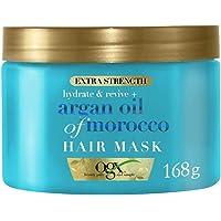 OGX, Maschera per Capelli, Extra Strenght + Argan Oil of Morocco, Olio di Argan del Marocco, 168g