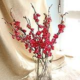 RWINDG Künstliche Gefälschte Blumen Pflaumenblüte Floral Hochzeit Bouquet Home Decor FrüHlingsblumen Kunstblume Orchidee Kunstbaum