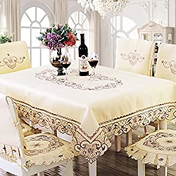 bordado mantel/ mantel de paño de tabla/[paño de mesa]/manteles/Set amortiguadores cubiertas de la silla/Jardín Presidencia europea-A 142x200cm(56x79inch)