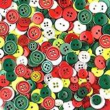 TUPARKA 310 Stücke Knöpfe zum Basteln Nähzubehör Weihnachten Dekoration Geschenken Dekoration Kartenherstellung