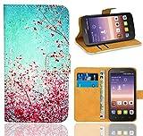 Huawei Y625 Handy Tasche, FoneExpert® Wallet Case Flip Cover Hüllen Etui Ledertasche Lederhülle Premium Schutzhülle für Huawei Y625 (Pattern 3)