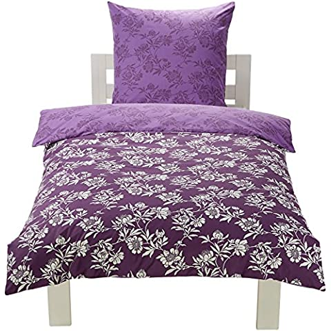 AmazonBasics - Juego de funda de edredón y funda de almohada (100% algodón, 135 x 200 cm y 80 x 80 cm), diseño