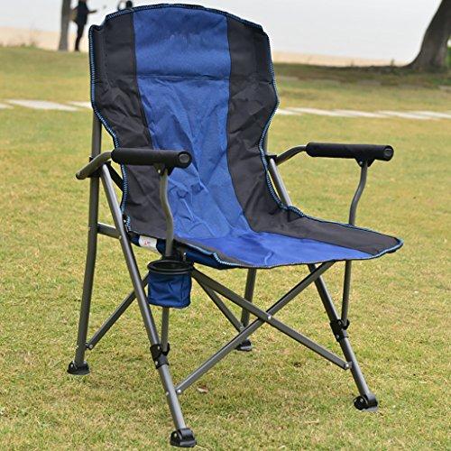 camping klappstuhl Leichte Durable Outdoor Sitz - Perfekt für Camping, Festivals, Garten, Caravan Trips, Angeln, Strand, BBQs ( Farbe : Blau )