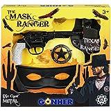 Gohner die Maske taxas Ranger mit 8-Schuss Pistole und Holster/Sheriff Star/Gürtel