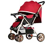 Baby Stroller, Baby Stroller Lightweight Portable High Landscape Can Sit and Lie Down Foldable Simple Handle Reversible...