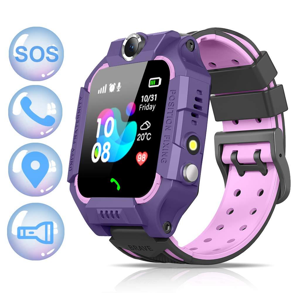 NAIXUES 2020 Smartwatch Niños, Reloj Inteligente para Niños Impermeable 67 con Linterna, SOS, LBS, Comunicación… 1