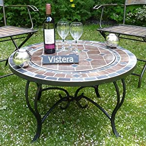Funchal mosaic fire pit table garden outdoors for Amazon prime fire pit
