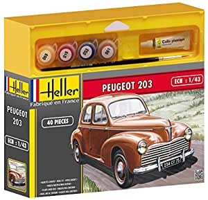 heller 50160 maquette voiture peugeot 203 echelle 1 43 kit jeux et jouets. Black Bedroom Furniture Sets. Home Design Ideas