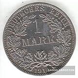 Deutsches Reich Jägernr: 17 1907 F sehr schön Silber sehr schön 1907 1 Mark Großer Reichsadler im Eichen (Münzen für Sammler)
