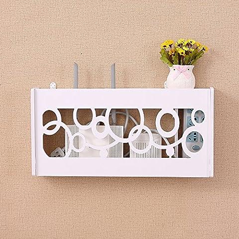 routeur Wifi étagère/TV set-top Boxes Magic étagère de rangement Boîte de décoration murale de renforcement à suspendre Rack Creative Boîte de rangement, L