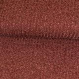 Strickstoff Meliert Weinrot Einfarbig Uni Strickjersey