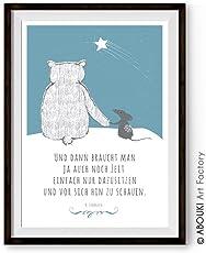 Bär und Maus brauchen Zeit - Kunstdruck ungerahmt; DIN A4