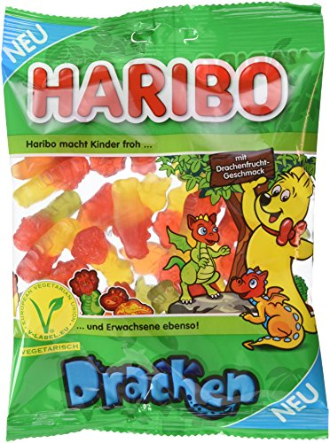 Preisvergleich Produktbild Haribo Drachen Beutel,  18er Pack (18 x 175 g)