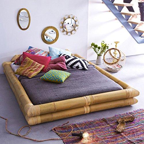 Futonbett aus Bambus für 160x200 Matratzen Schlafzimmer Bett 2 Personen