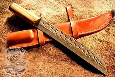 R4 moyen n ° 4/3 viking sax sachs couteaux manche bois gewandung armure fourreau en cuir